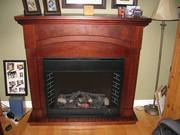 Remote control electric fireplace