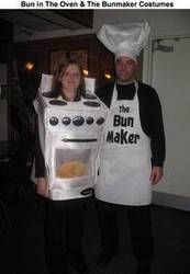 Bun in the Oven & The Bun Maker costumes