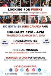 Calgary Job Fair - March 28th 2019